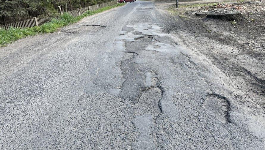Droga powiatowa przez Pisarzowice.