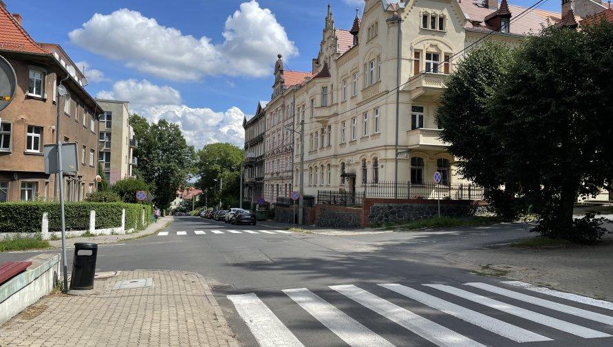 Ulica Dąbrowskiego w Lubaniu